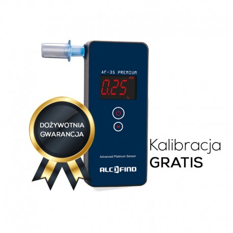 Alkomat AlcoFind AF-35 Premium + Świadectwo Kalibracji + Kalibracje Gratis